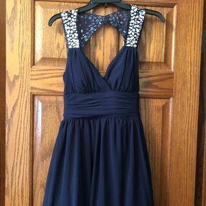 Navy spec occasion short dress